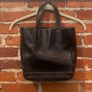 Coach Hampton's Tote.  Black with white stitching